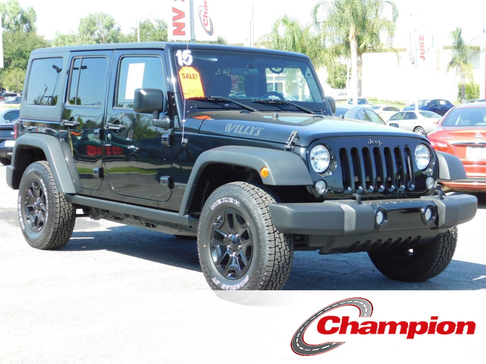 Pre Owned 2015 Jeep Wrangler Unlimited Willys Wheeler